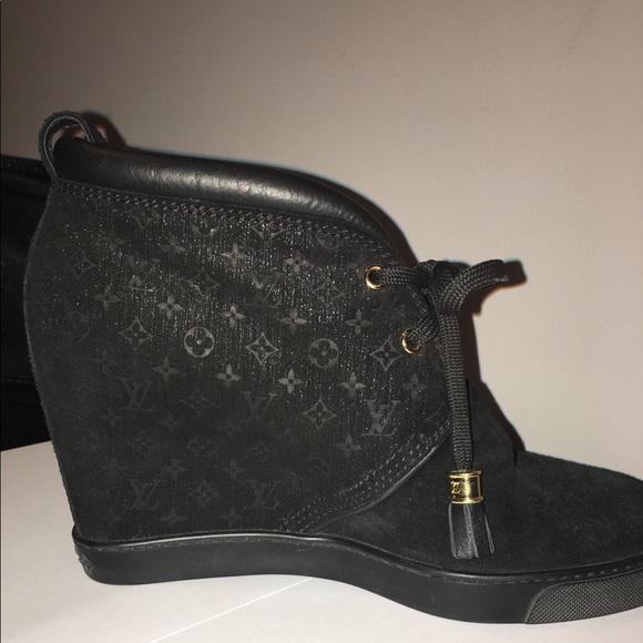 594f2776d2c Louis Vuitton Shoes - Louis Vuitton hidden wedge booties
